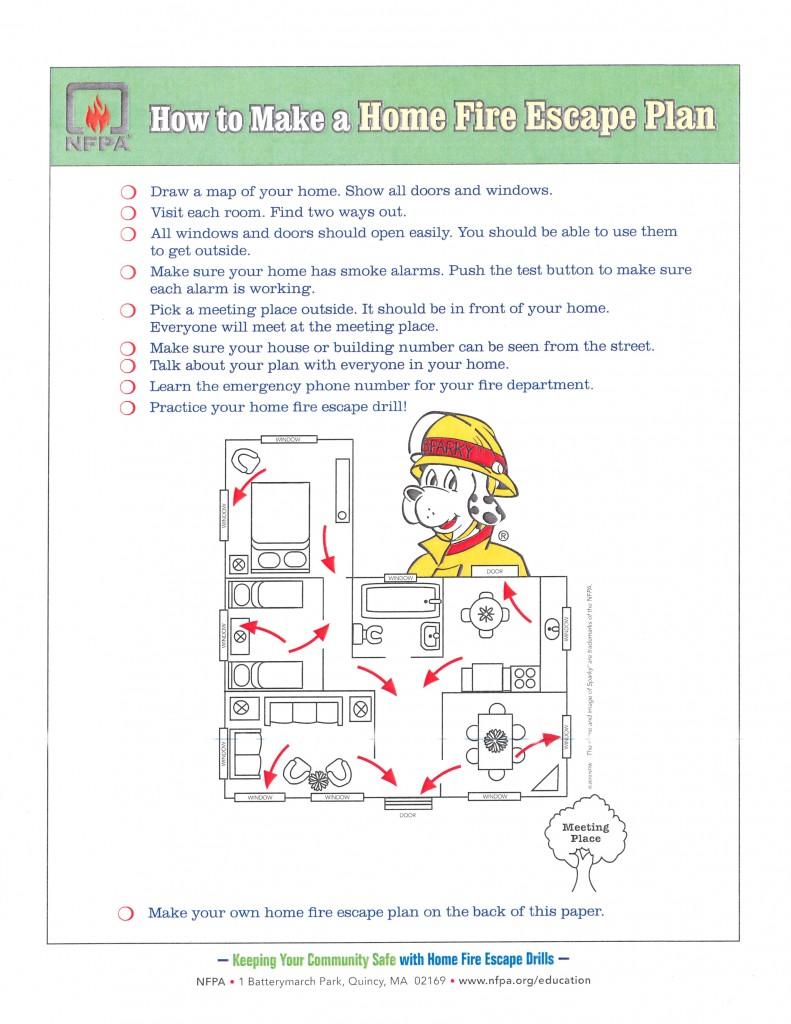 Home Fire Escape Plan Kids_1